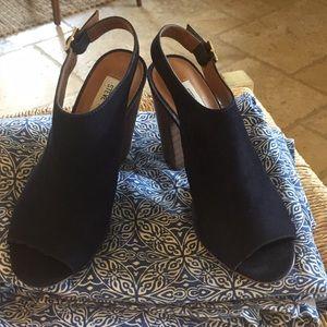 Navy size 6.5 suede Madden heels